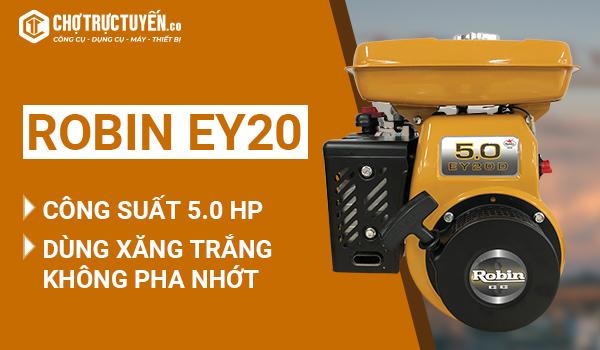 Động cơ Robin EY20 – công suất 5.0 HP – dùng xăng trắng không pha nhớt