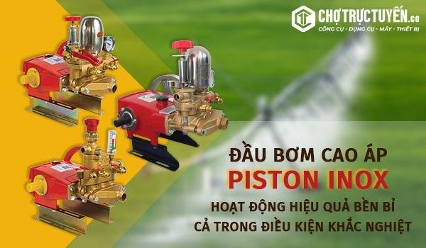 Đầu bơm cao áp piston inox - Hoạt động hiệu quả bền bỉ cả trong điều kiện khắc nghiệt