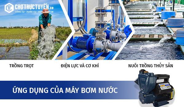Một số công dụng của máy bơm nước