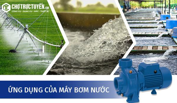 Công dụng máy bơm nước nông nghiệp: bơm tưới đồng ruộng, bơm vệ sinh chuồng trại, bơm tiêu úng, hút nước ao hồ hoặc hố móng