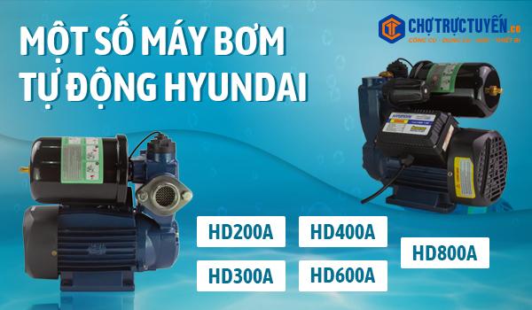 Hình minh họa một số máy bơm tự động của HYUNDAI (dòng máy dân dụng HD200A, 300A, 400A, 600A, 800A)
