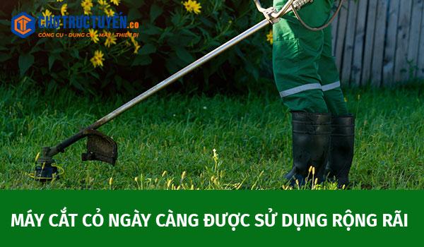 Máy cắt cỏ ngày càng được sử dụng rộng rãi