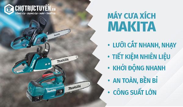 Những ưu điểm của máy cưa xích Makita