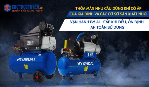 máy nén khí trực tiếp hiện có tại chotructuyen.co, nộ Thỏa mãn nhu cầu dùng khí có áp của gia đình và các cơ sở sản xuất nhỏ; Vận hành êm ái - Cấp khí đều, ổn định - An toàn sử dụng