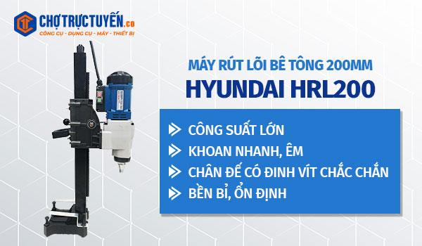 Máy rút lõi bê tông 260mm HYUNDAI HRL260 - Tốc độ khoan cao - Công suất mạnh mẽ - Lưỡi khoan sắc bén - Đường kính mũi khoan lớn