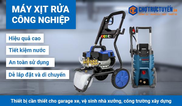 MÁY XỊT RỬA CÔNG NGHIỆP - Thiết bị cần thiết cho garage xe, vệ sinh nhà xưởng, công trường xây dựng
