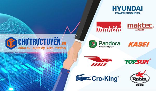chotructuyen.co hợp tác với các đơn vị cung cấp uy tín như: hyundai, makita,maktec,pandora,kasei,eagle,topsun, cro-king,robin