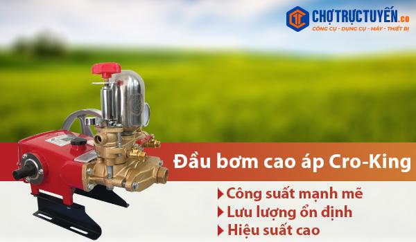 Đầu bơm cao áp Cro-King - Công suất mạnh mẽ - Lưu lượng ổn định - Hiệu suất cao