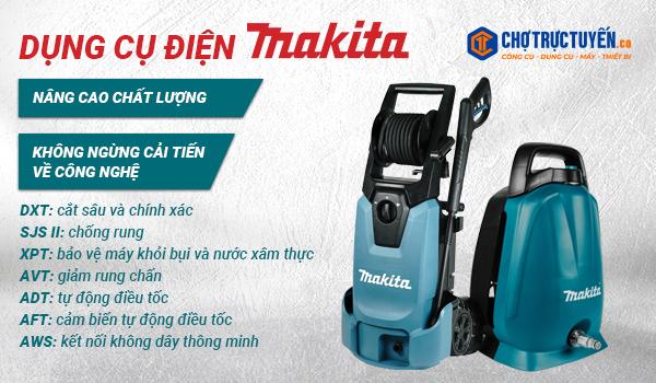 Dụng cụ điện Makita; không ngừng cải tiến về công nghệ, nâng cao chất lượng; gắn các biểu tượng công nghệ của makita