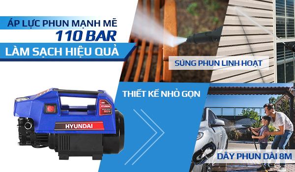 Hình ảnh máy xịt rửa cao áp mini hyundai hrx 713
