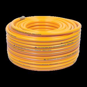Ống hơi PVC Cro-king 8.5 x 50 (vàng),  lớp nhựa bên ngoài màu vàng, chỉ cotton, áp lực nổ 200 Bar, áp lực làm việc 70 Bar