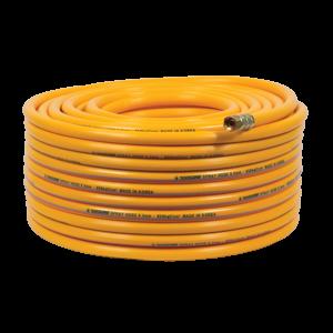 Ống hơi PVC Topsun 8.5 x 50 (vàng),  lớp nhựa bên ngoài màu vàng, chỉ cotton, áp lực nổ 250 Bar, áp lực làm việc 80 Bar