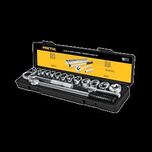 Bộ socket 16 chi tiết 10 - 27mm PRETUL - 21174