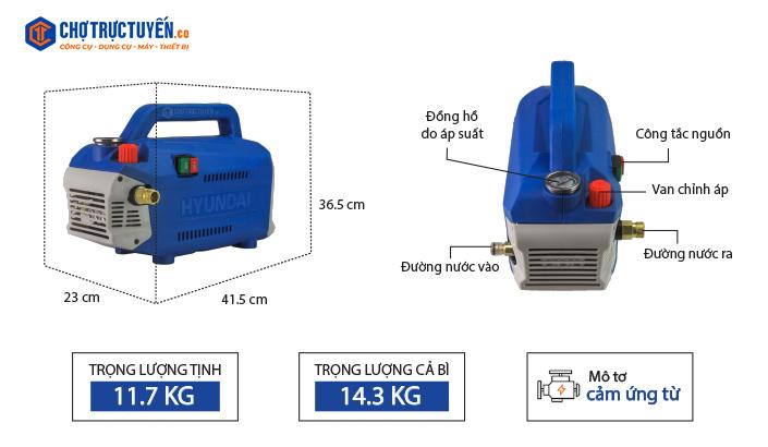 Thông số kỹ thuật máy xịt rửa HRC918