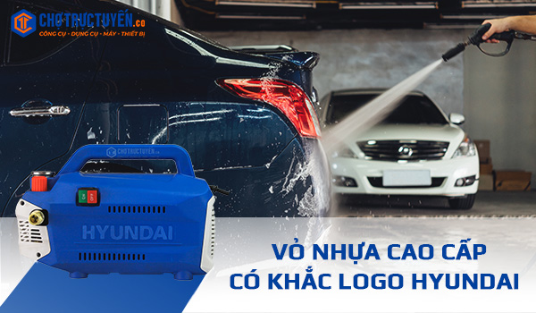 Máy xịt rửa xe HYUNDAI HRC918 có thiết kế nhỏ gọn, đẹp mắt, dễ dàng di chuyển